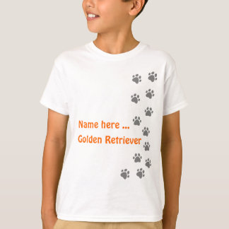 Paw print grey - add your own name or dog breed T-Shirt