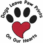 Paw Print Heart Embroidered Hoodies