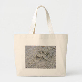 Paw Print In The Sand Canvas Bag