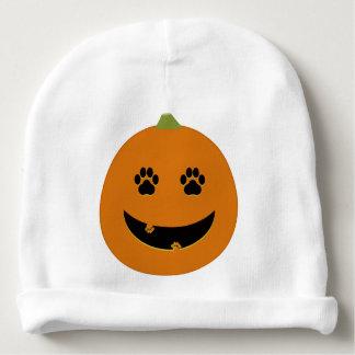 Paw Print Jack-o-Lantern Baby Hat Baby Beanie