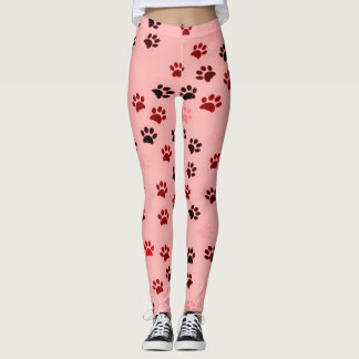 Paw Print Leggings for Dog Lovers