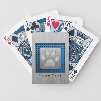 Paw Print; Metal-look Bicycle Playing Cards