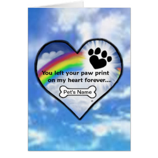 Paw Print On My Heart Card