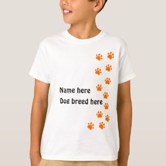 paw print orange - add your own name or dog breed T-Shirt