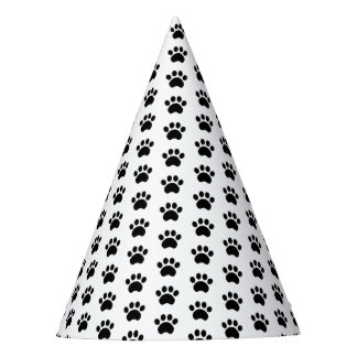Paw Print Pattern Party Hat