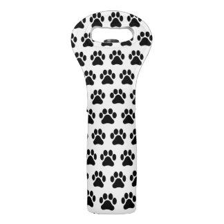 Paw Print Pattern Wine Tote Bag