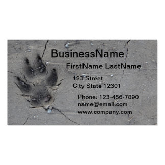 paw print pet business card