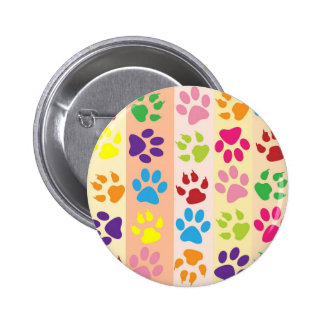 Paw Print Pet Design 6 Cm Round Badge
