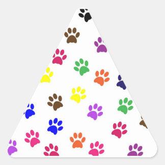Paw print pet dog colorful sticker, stickers, gift triangle sticker