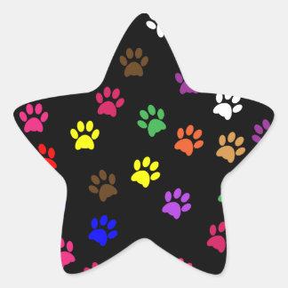 Paw print pet dog colorful sticker, stickers, gift star sticker