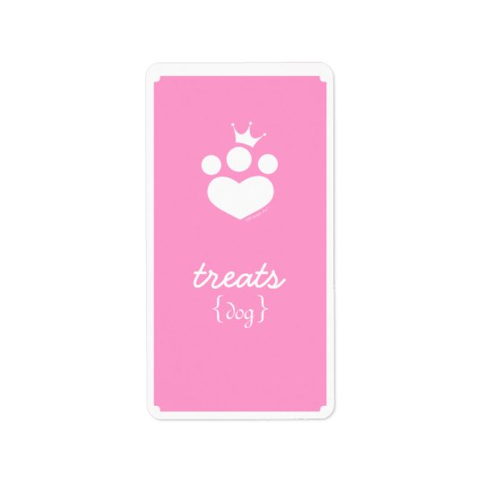 Paw Print Princess Off-Leash Art™ Pet Treats Address Label