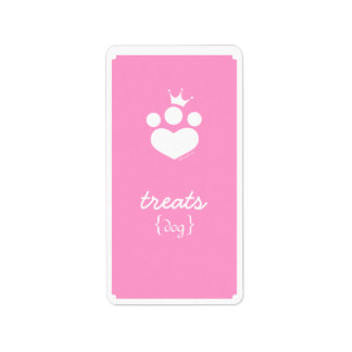 Paw Print Princess Off-Leash Art™ Pet Treats Label