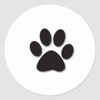 Paw print products classic round sticker