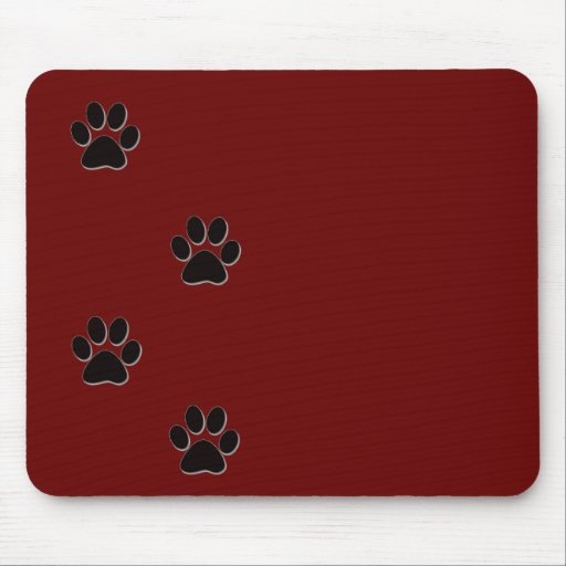 Paw print products mousepads