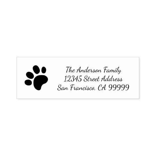 Paw Print - Self Inking Address Stamp