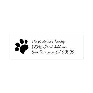Paw Print - Self Inking Address Stamp