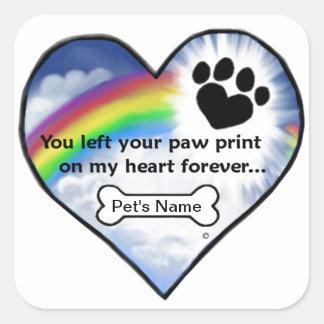 Paw Print Sympathy Poem Stickers