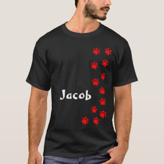 Paw print t-shirt - add your own name or dog breed