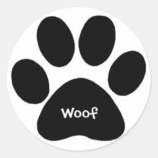paw print woof sticker