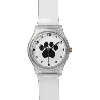 Paw Print Wrist Watch with Numbers