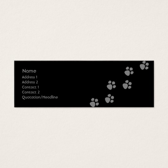 Paw Prints (2) Mini Business Card