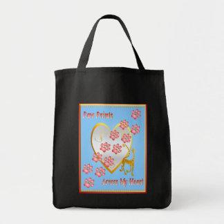 Paw Prints Across My Heart Bags