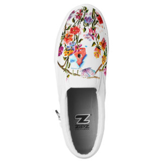 PAW PRINTS BIRD HOUSE PRINTED SHOES