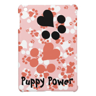 Paw prints - Black and white heart paws iPad Mini Covers
