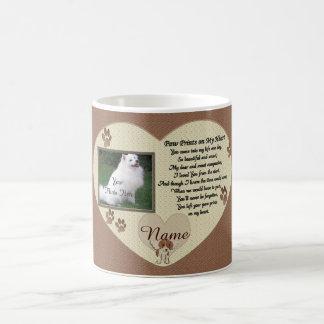 Paw Prints Dog Memorial Keepsake Basic White Mug