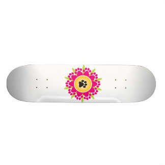 Paw Prints Flower Skateboards