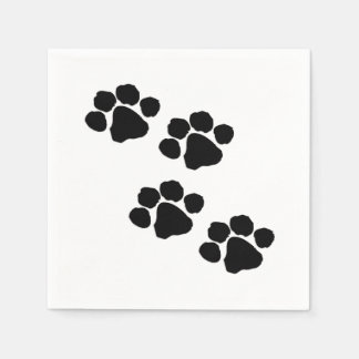 Paw Prints For Animal Lovers Disposable Napkin