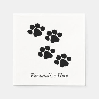 Paw Prints For Animal Lovers Disposable Serviette