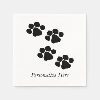 Paw Prints For Animal Lovers Disposable Napkins