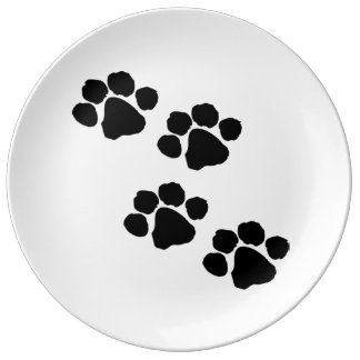 Paw Prints For Animal Lovers Porcelain Plate