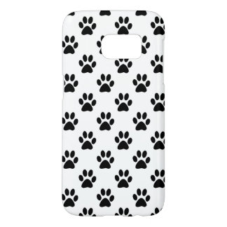 Paw prints in Black customizable background