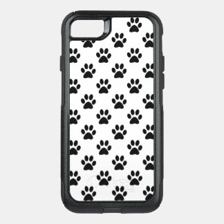 Paw prints in Black OtterBox Commuter iPhone 8/7 Case