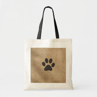 Paw Prints in the Sand Budget Tote Bag