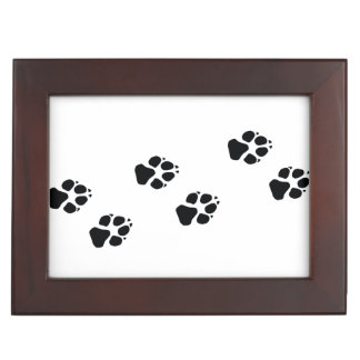 Paw prints of a dog keepsake box