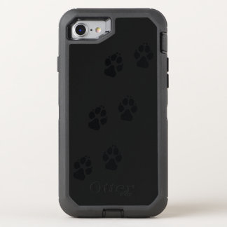 Paw prints of a dog OtterBox defender iPhone 8/7 case