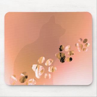 Paw Prints of Cat, Dog, Puppy for Pet Lovers Mouse Pad