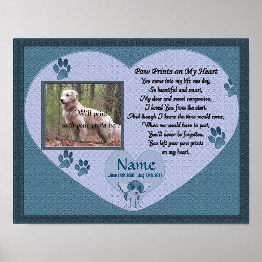 Paw Prints on My Heart - Blue Dog