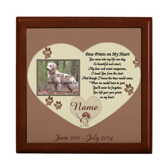 Paw Prints on My Heart - Dog Memorial