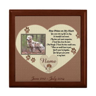 Paw Prints on My Heart - Dog Memorial Large Square Gift Box