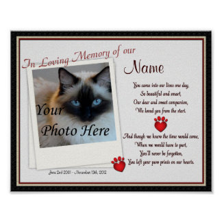 Paw Prints on My Heart Pet Memorial - Dog Cat