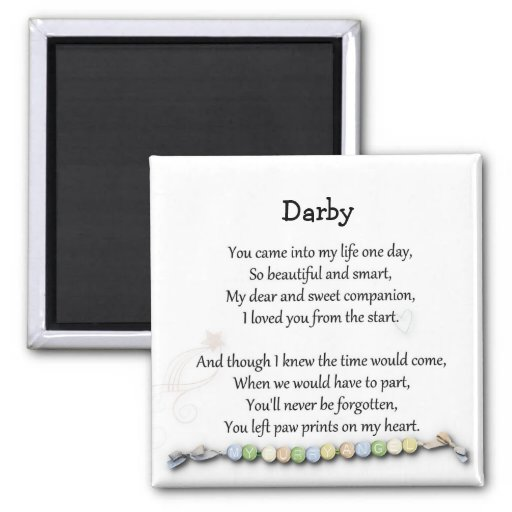 Paw prints on my heart pet memorial magnet