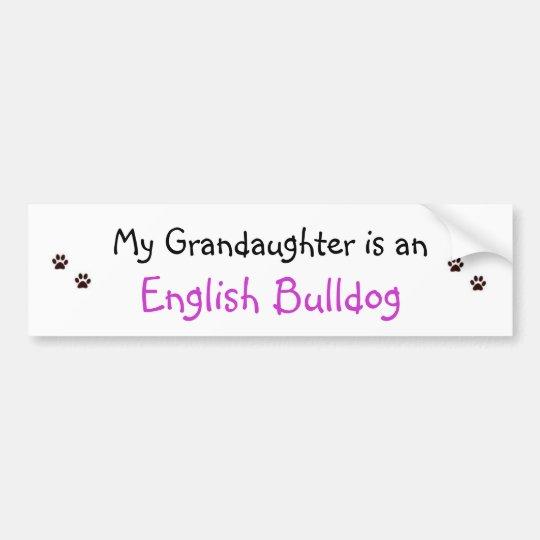 paw prints, paw prints, My Grandaughter is an, ... Bumper Sticker