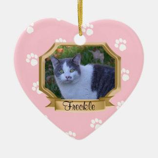 Paw Prints Pet Photo Frame Christmas Ornament