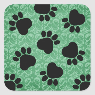 Paw Prints - Talk to the Paw! Green Stickers