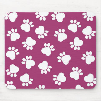 Paw Prints - Talk to the Paw! Pink and White W1614 Mouse Pad
