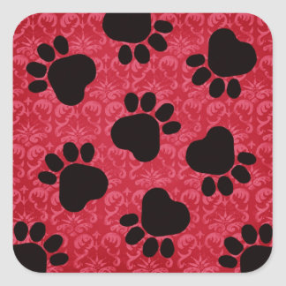 Paw Prints - Talk to the Paw! Red and Black Stickers